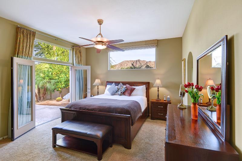 Master Bedroom With Cal-King Bed, French Door To Private Patio, Mountain Views