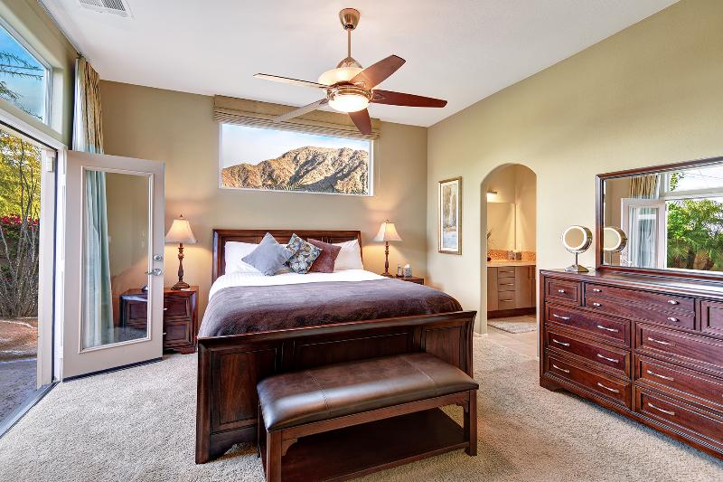 Master Bedroom With Cal-King Bed, Ceiling Fan, Full -size Dresser, Walk-in Closet, Master Bath