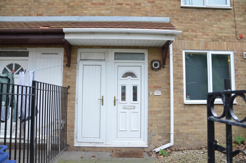 The house front door