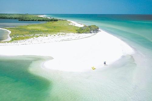 Closest secluded beach is honeymoon island. 21 miles away.