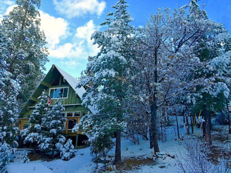 Grass Valley Lodge in the snow!