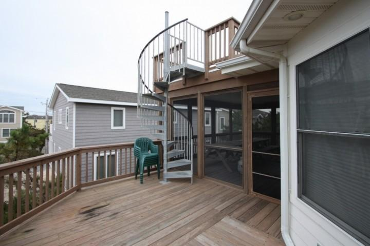 Steps to the Top Deck with Ocean View