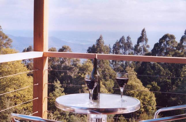 View over Yarra Valley from Silver Wattle cottage.