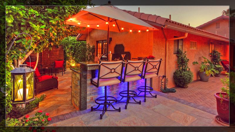 Bar, outdoor kitchen in Citrus courtyard