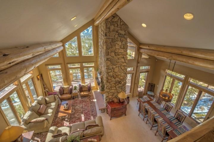 Birds-Eye View of Great Room from Loft