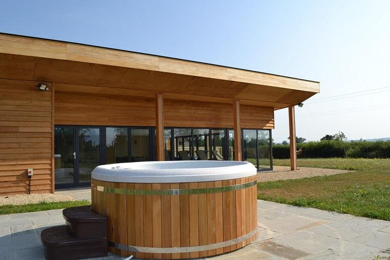 The hot tub at The Sedum Spa
