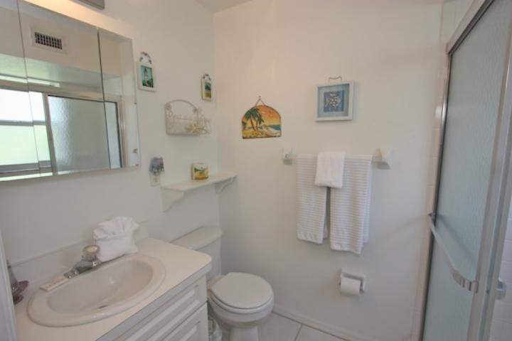 Private Master-Badezimmer mit begehbarer Dusche