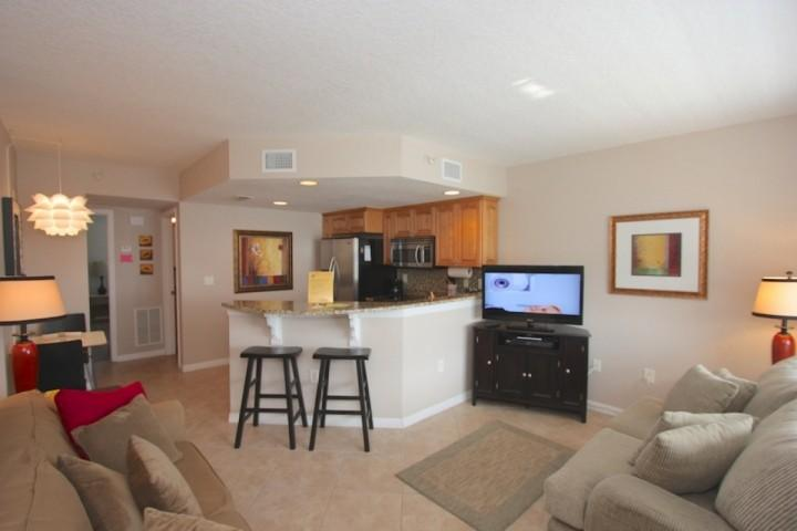 Living Room Area with Sleeper Sofa/Flat Screen Cable TV