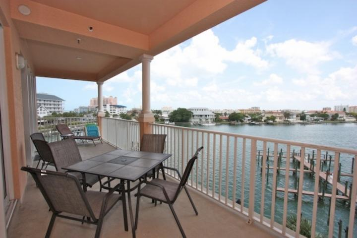 Large Private Patio with Seating for 6-8 Overlooking The Clearwater Intercoastal