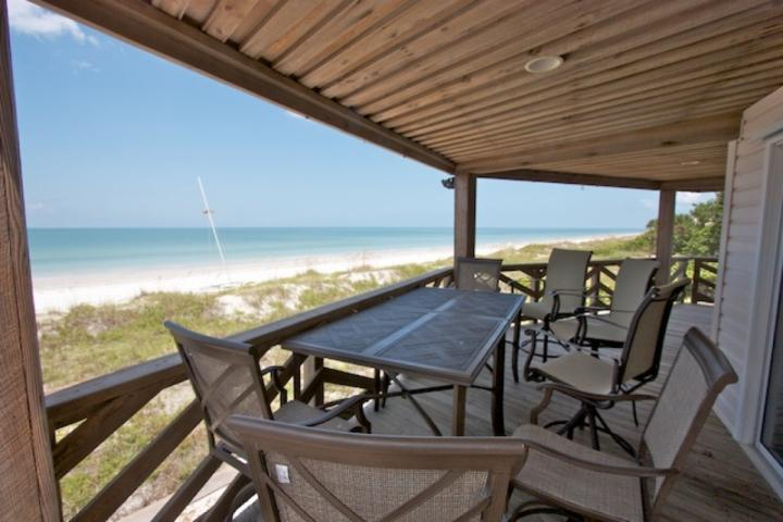 Large Patio with Seating for 6-8 Overlooking The Gorgeous Gulf of Mexico in Indian Rocks Beach