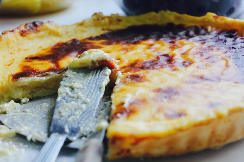 Todas as sobremesas são feitas diariamente na cozinha do Restaurante A Moderna.Torta de Natas