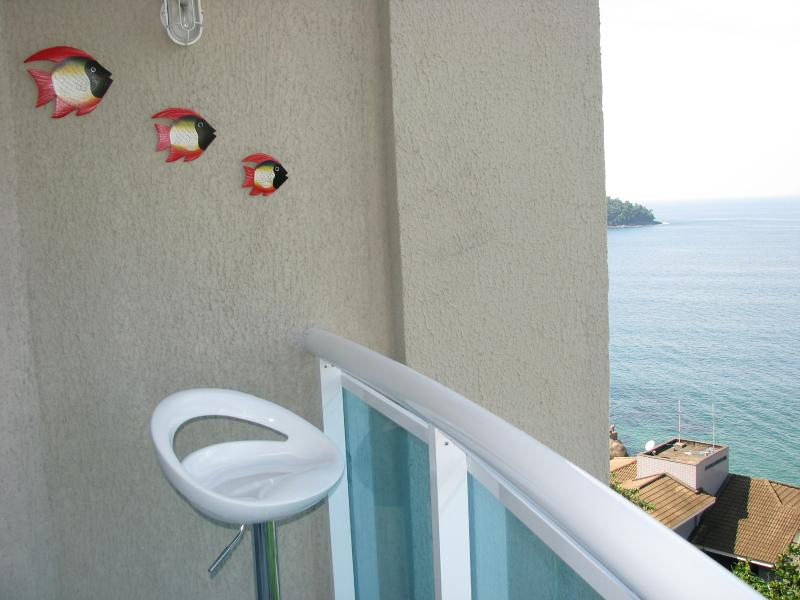 Patio with ocean view and Ilha Grande view