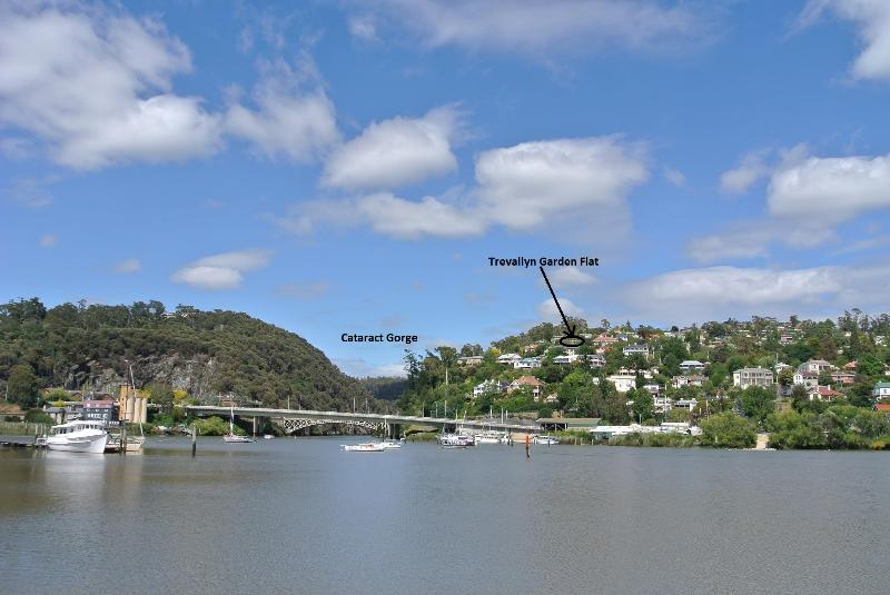 Trevallyn is on a hill, close to the Cataract Gorge and Kings Bridge.