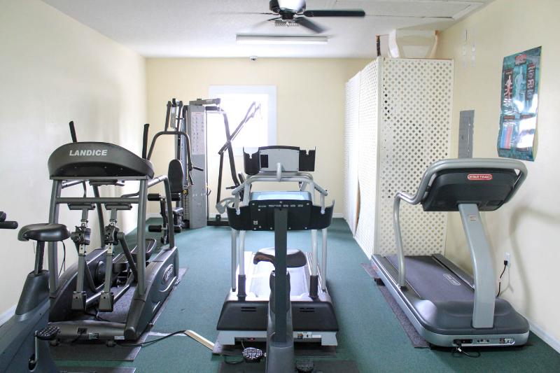 Gym located just outside the unit