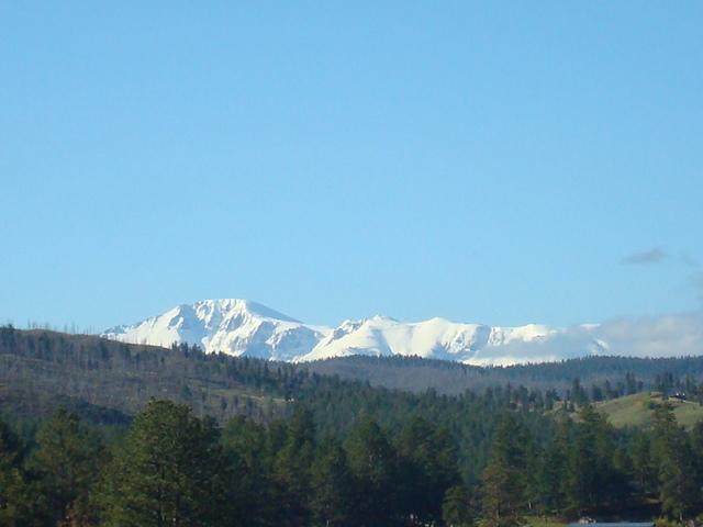 PIKES PEAK OR BUST! THIS IS A VIEW FROM THE LARGE DECK