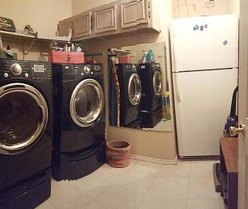 Upright washer and dryer