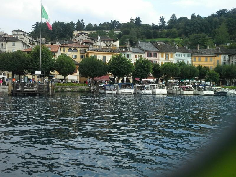 View of Orta from the lake.