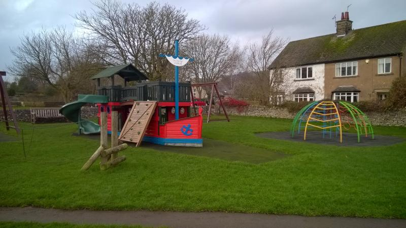 Fantastic children's playground - just up the lane.