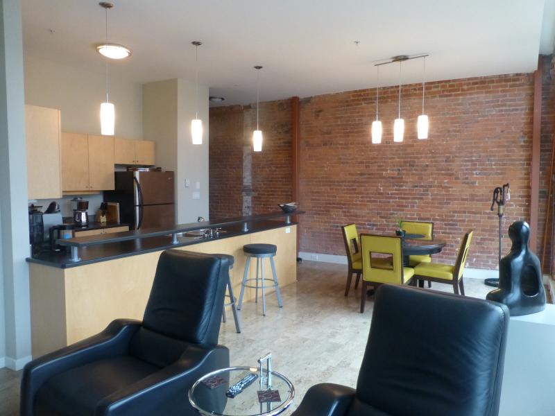 View Of Kitchen, Dining & Living Areas