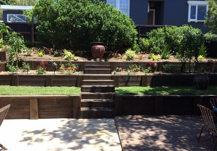 View of garden from back door