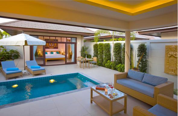 Villa de un dormitorio con piscina