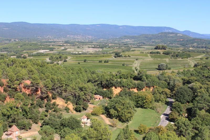 View of the Luberon from the village