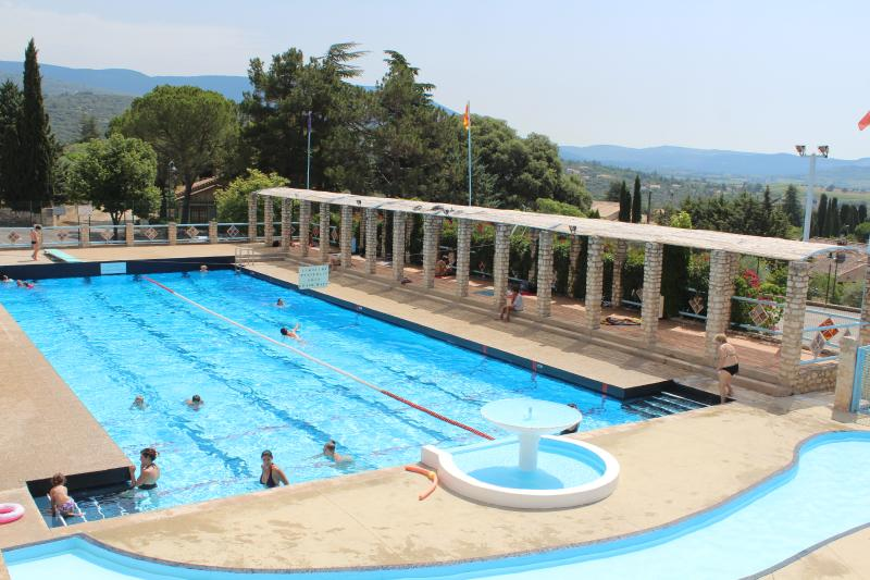 The scenic outdoor public pool of St Saturnin (open Jul-Aug) located 10 mins away