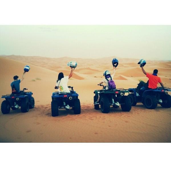 Dunes tour quad Quads rental in the dunes of Merzouga.