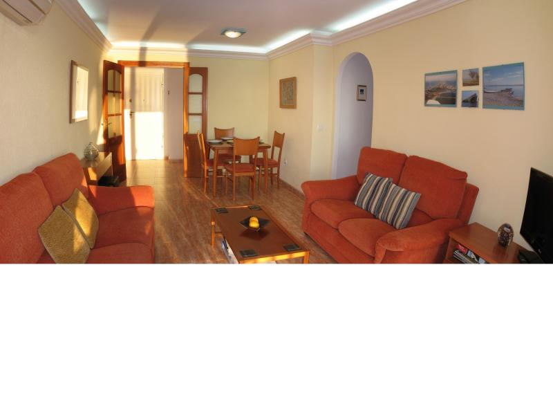 Air conditioned lounge with great views of the marina, Mar Menor and Med