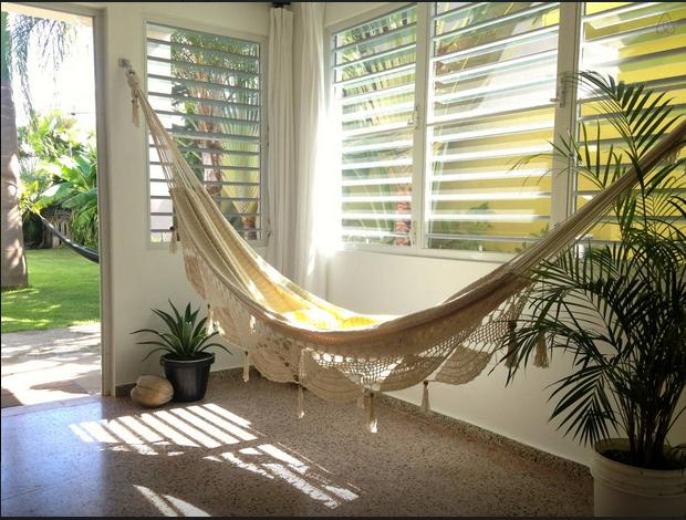 In-house handwoven hammock