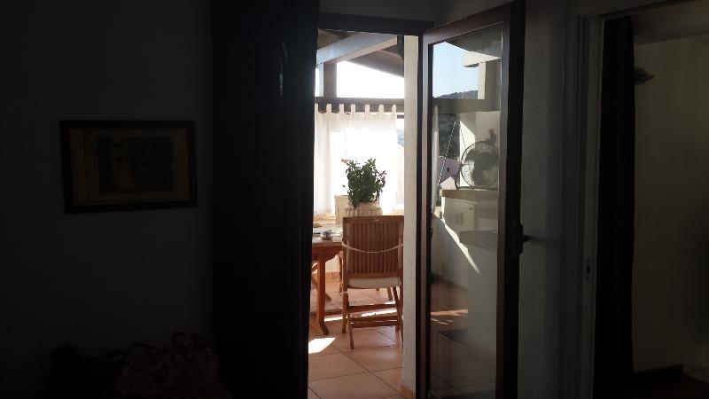 Veranda access door from the loft living room