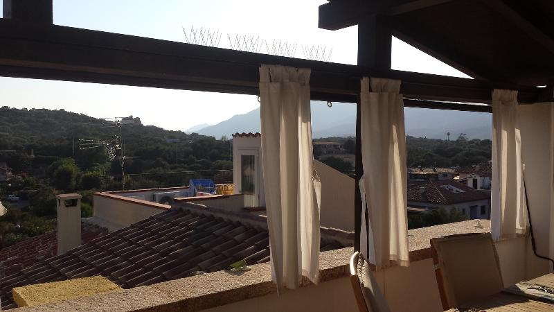 Private veranda view on the mountains