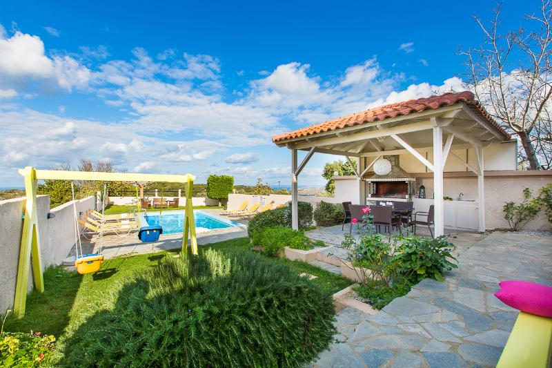 Villa Dimitra's outdoor area has everything you need for a perfect holiday!