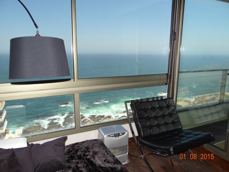 OVERLOOKING the sea in height