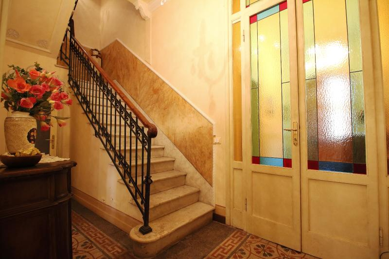 Staircase leading to the first floor