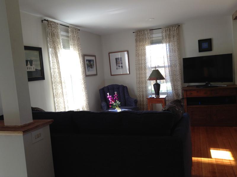 Smart tv, sunny sitting area