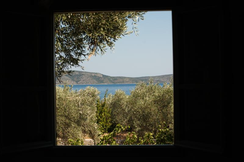 View through the window to a small paradise