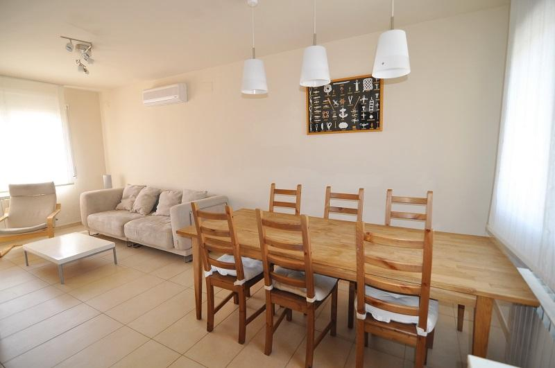 Dining table and sofa