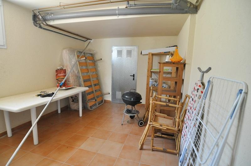 Storage room, with other tables, chairs and barbecue