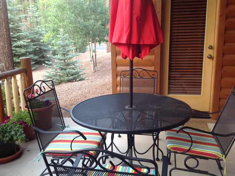 Summer on the patio, enjoy the cool breezes!