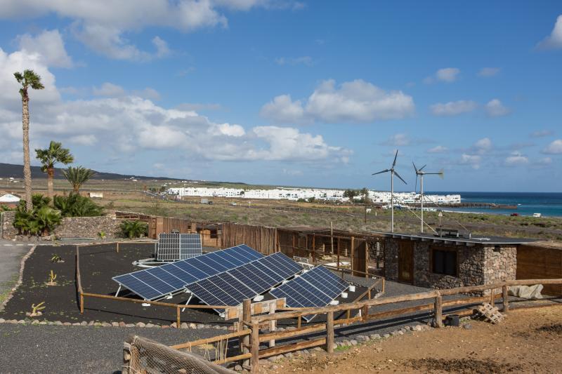 Solar & Wind park at Finca De Arrieta
