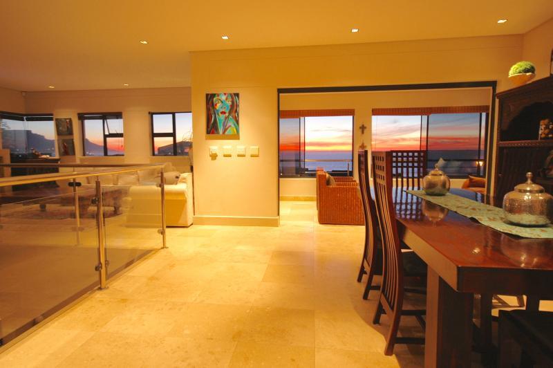 Every room upstairs has sea and mountain views