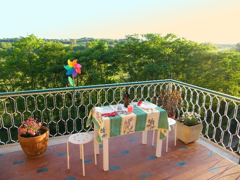 The big terrace overlooking Caffarella Park