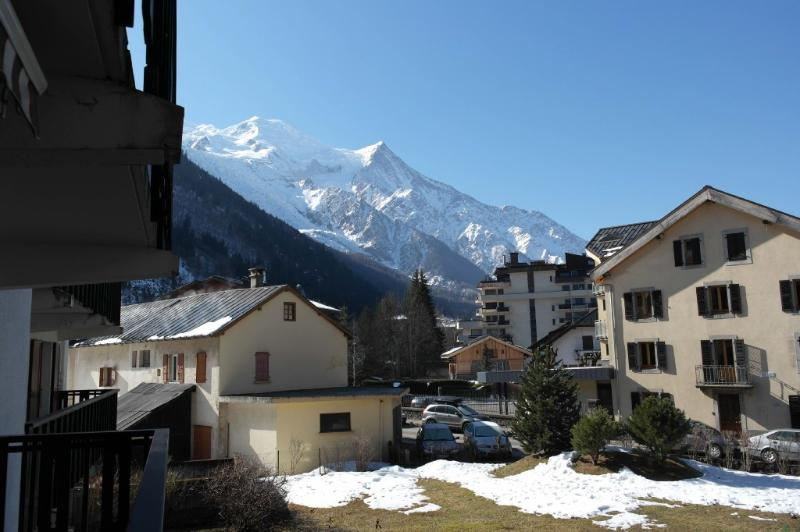 View from the bedroom balcony on Mont-Blanc one side, and on Brévent Mountain other side