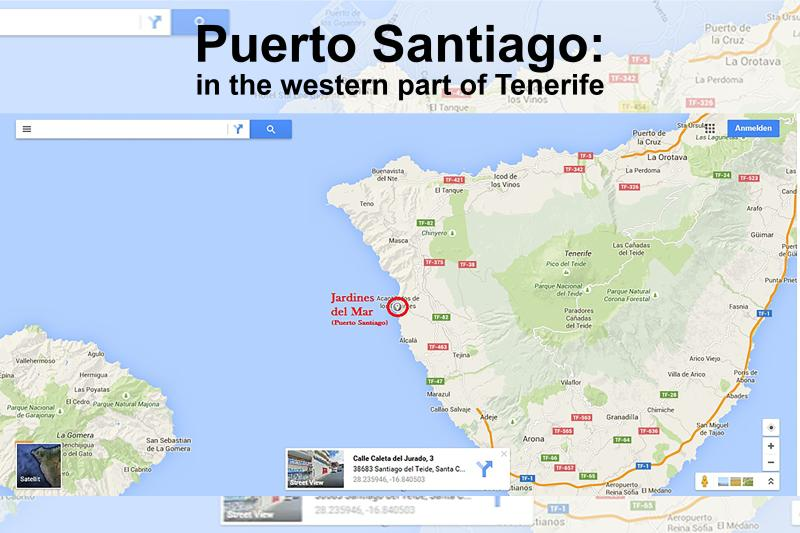 Geographic location of the complex in the western part of Tenerife.