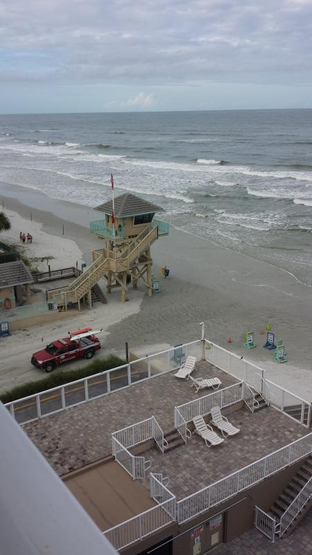 The lifeguard stand.  View from your private balcony.