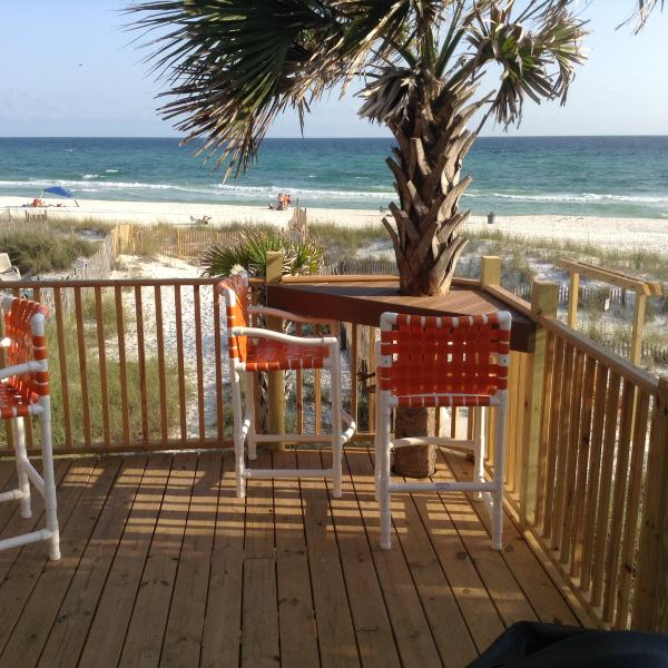 Panhandle Beach House Rentals: End Villa REAL Deal Beach Front Walk Out Door To Beach