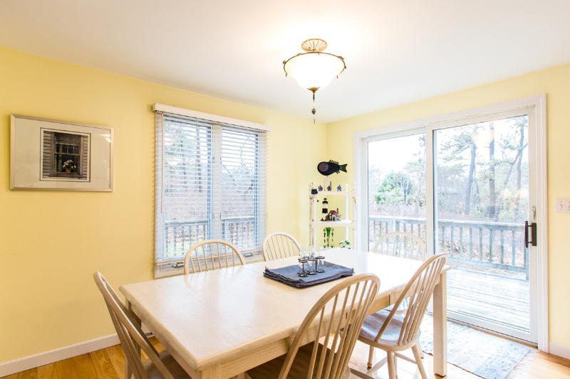Dining Area, Glass Sliders Open onto Deck Area