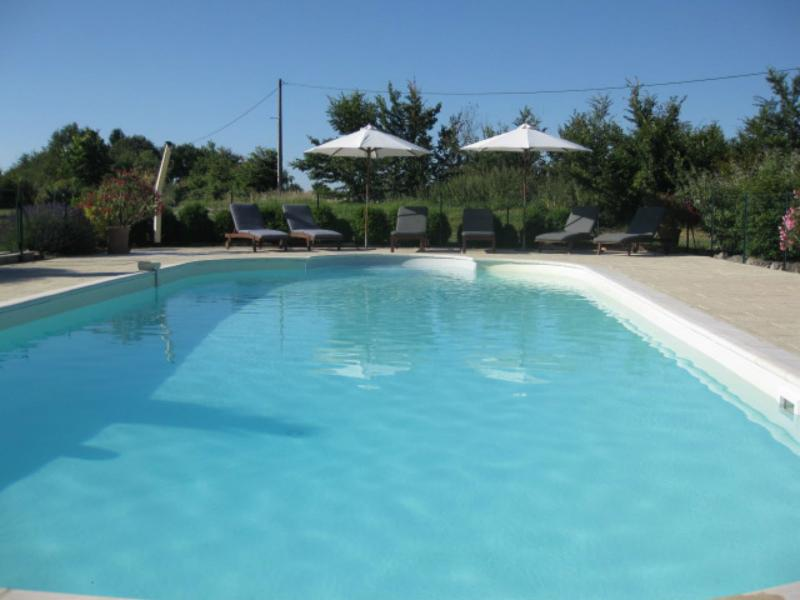 The pool is large enough for swimming, games or just relaxing