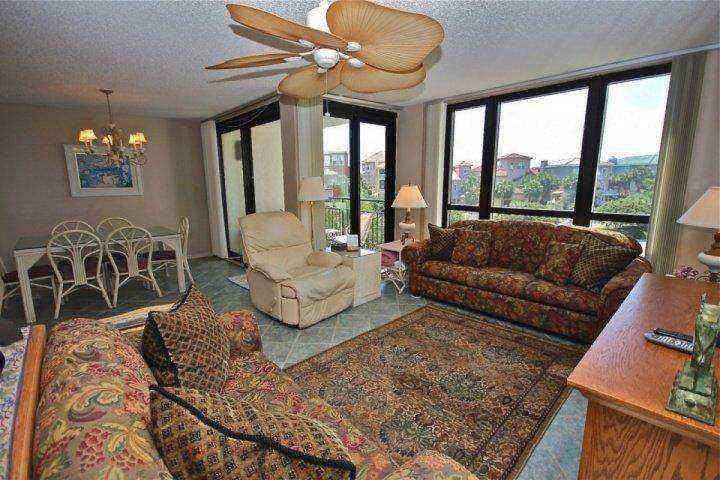 Enjoy all the natural light in the spacious living and dining area